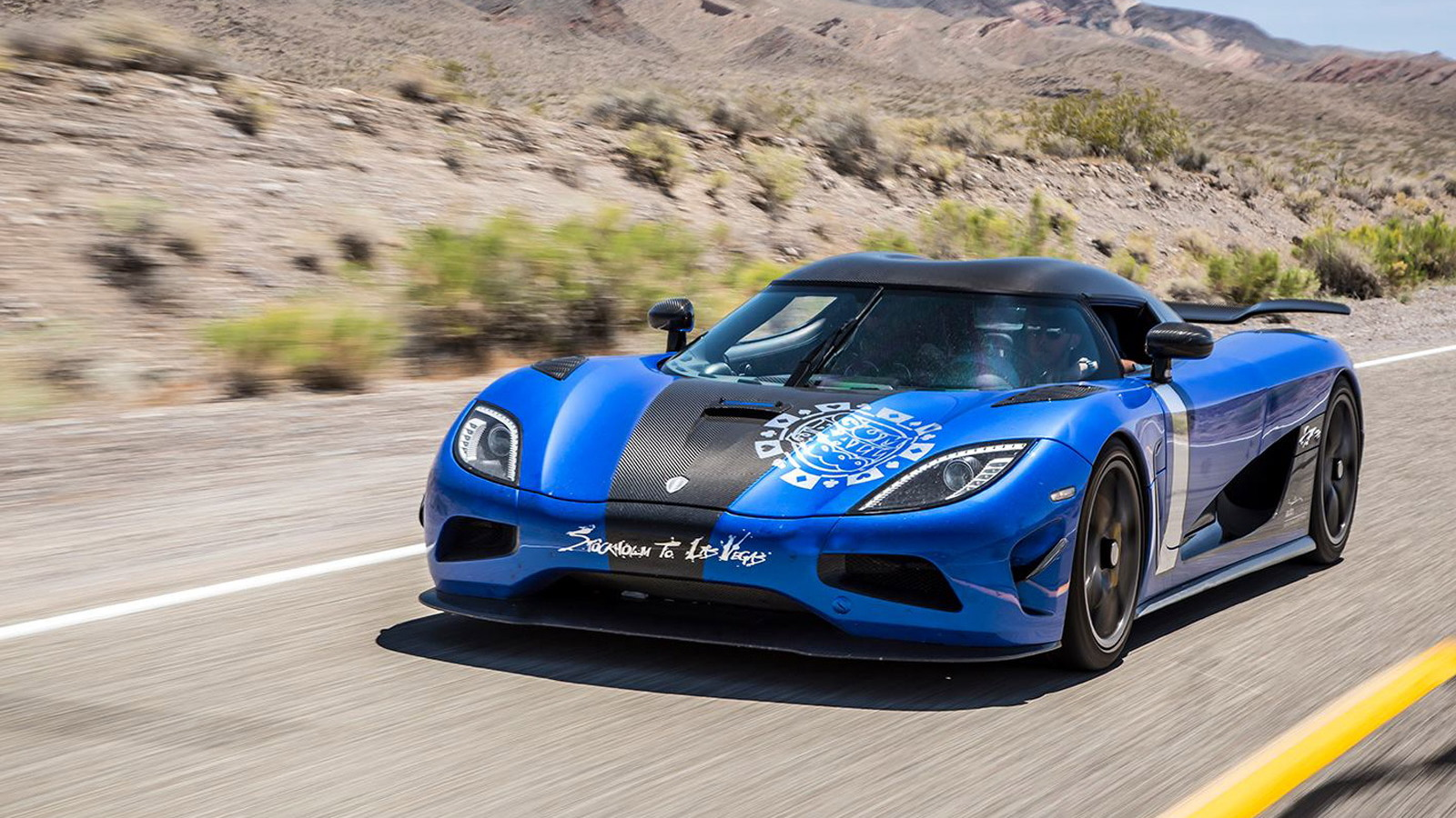Lewis Hamilton drives a Koenigsegg Agera S in the 2015 Gumball 3000 rally