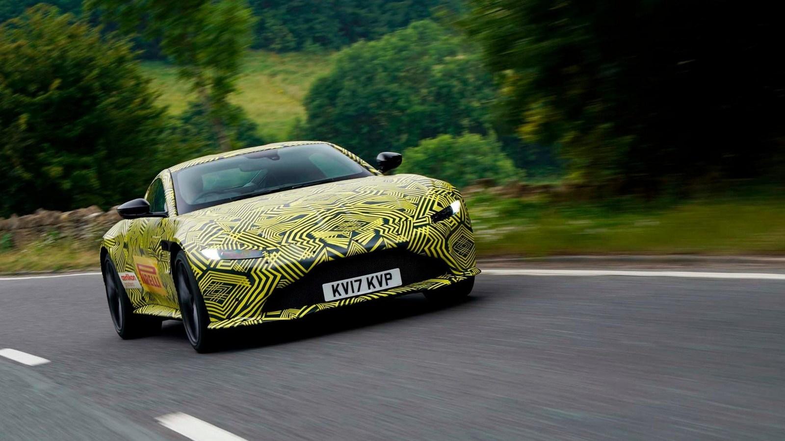Teaser for 2018 Aston Martin Vantage