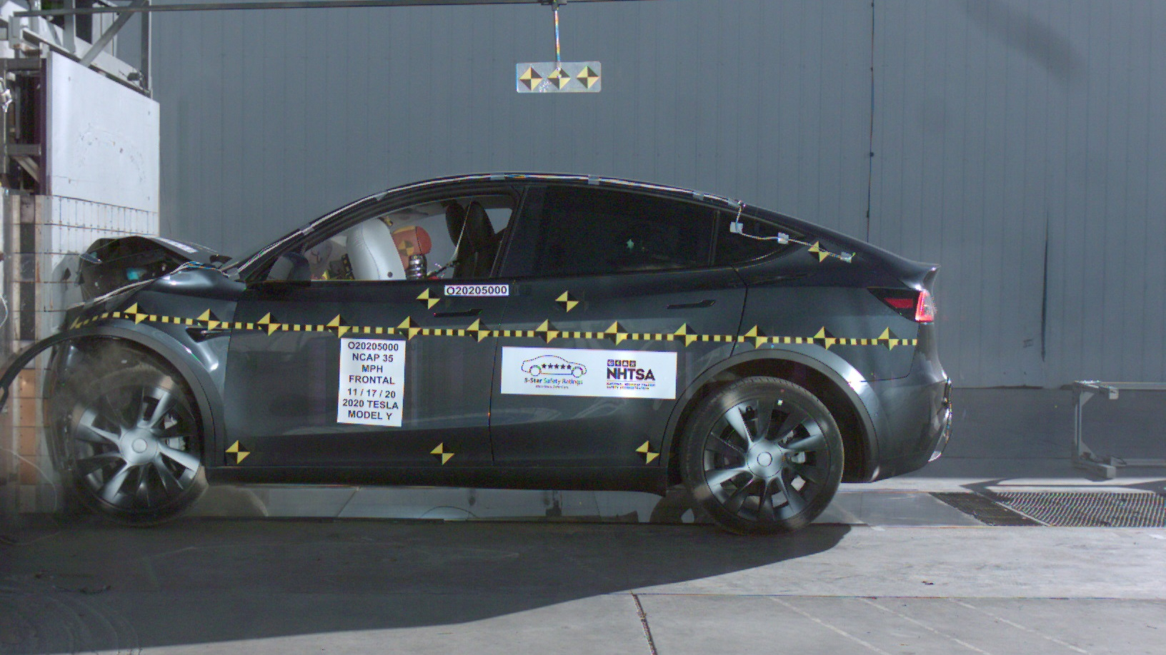 2021 Tesla Model Y  -  U.S. NCAP crash-testing