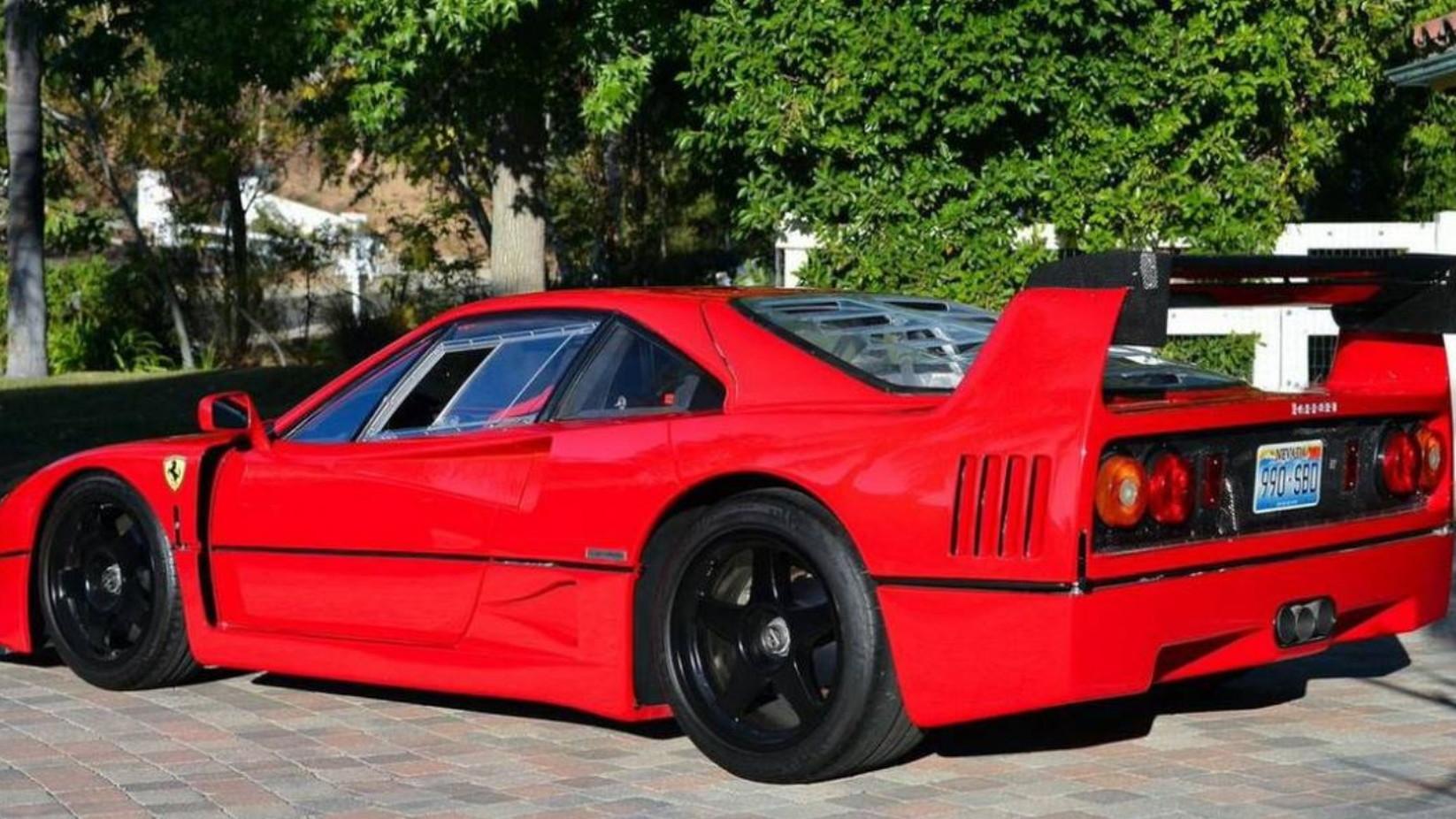 1992 Ferrari F40 converted to LM spec. Images via Hemmings.
