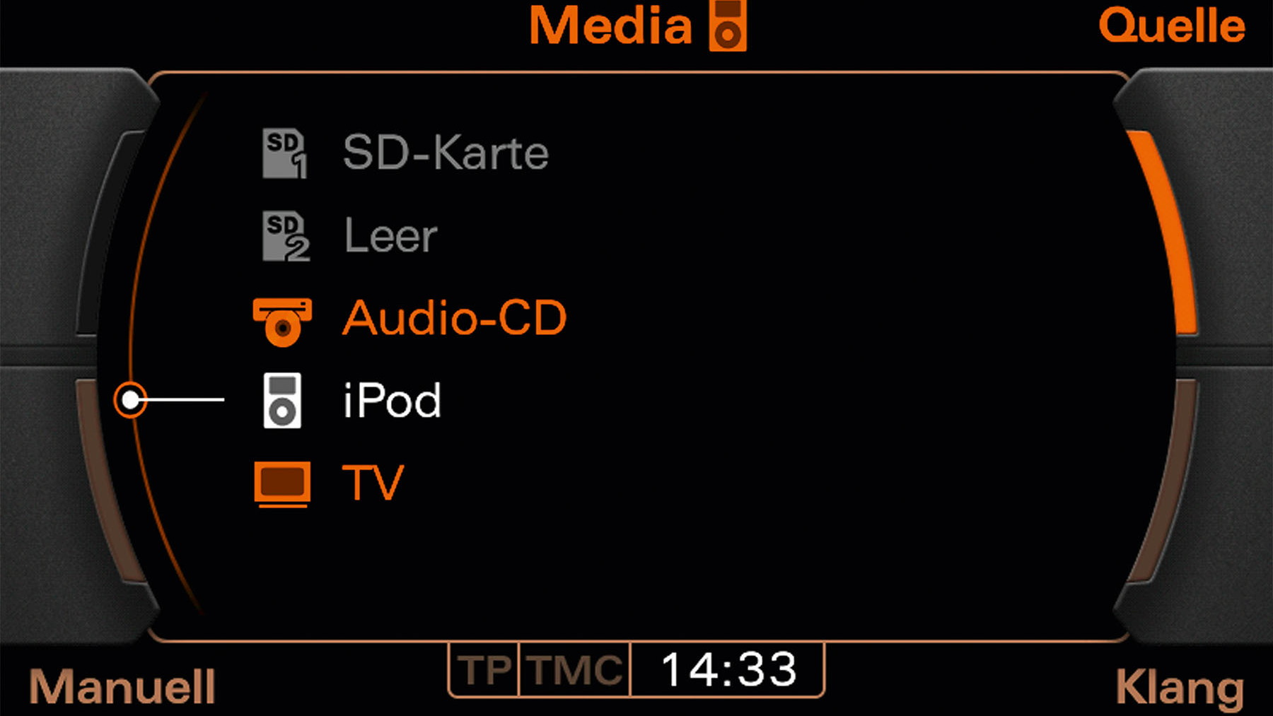 audi navigation system plus media selection 001