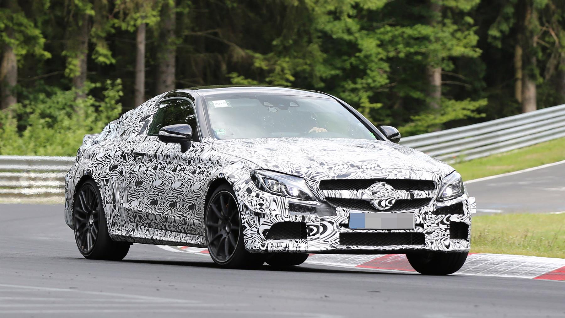 2017 Mercedes-AMG C63 Coupe spy shots - Image via S. Baldauf/SB-Medien
