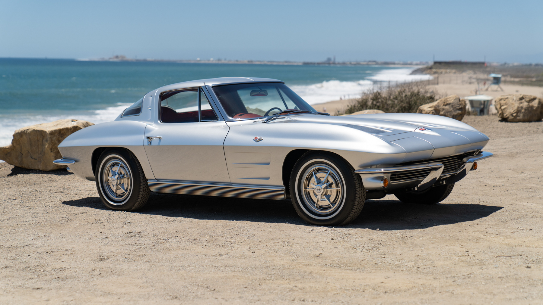 Neil Peart's 1963 Chevy Corvette, image courtesy of Gooding & Company. Photo by Mike Maez.