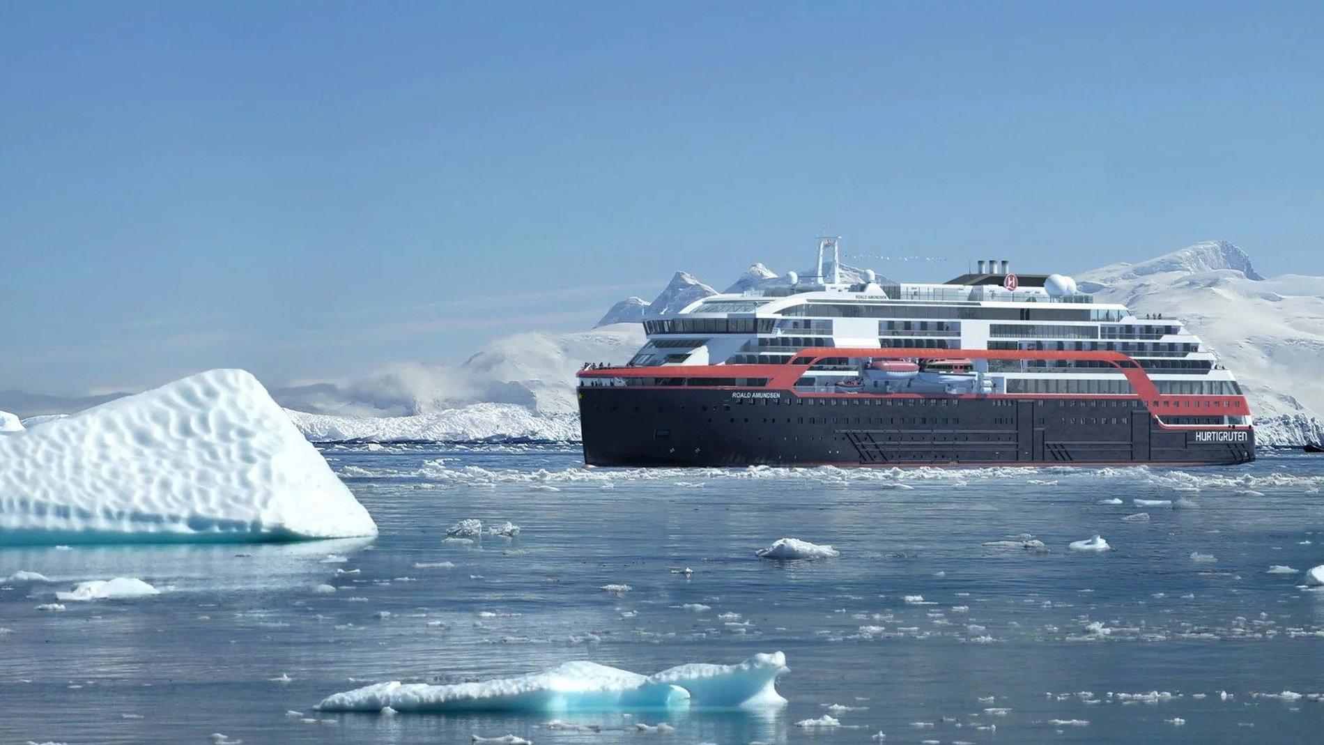 Hurtigruten MS Roald Amundsen plug-in hybrid cruise ship