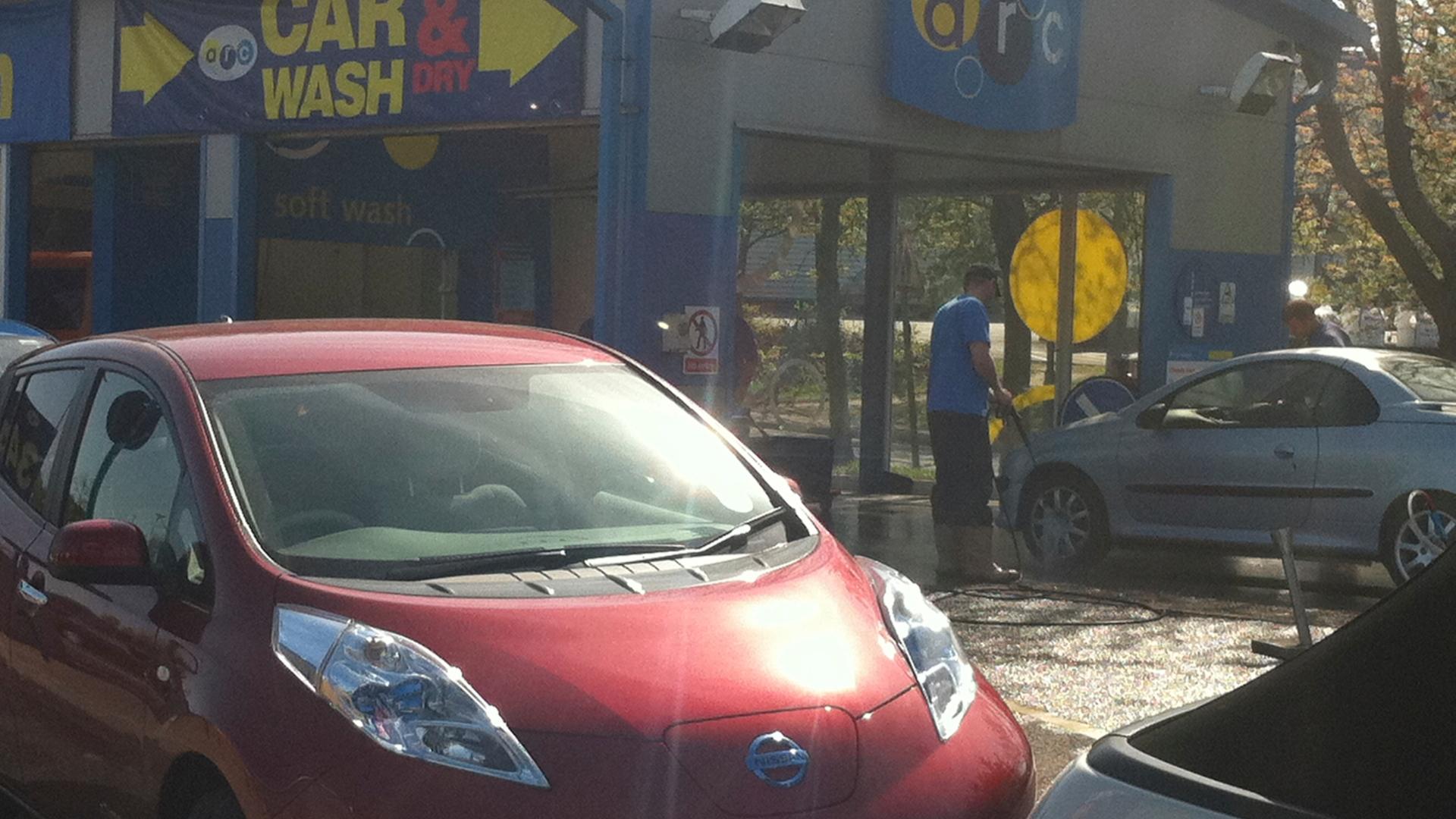 2011 Nissan Leaf in Car Wash