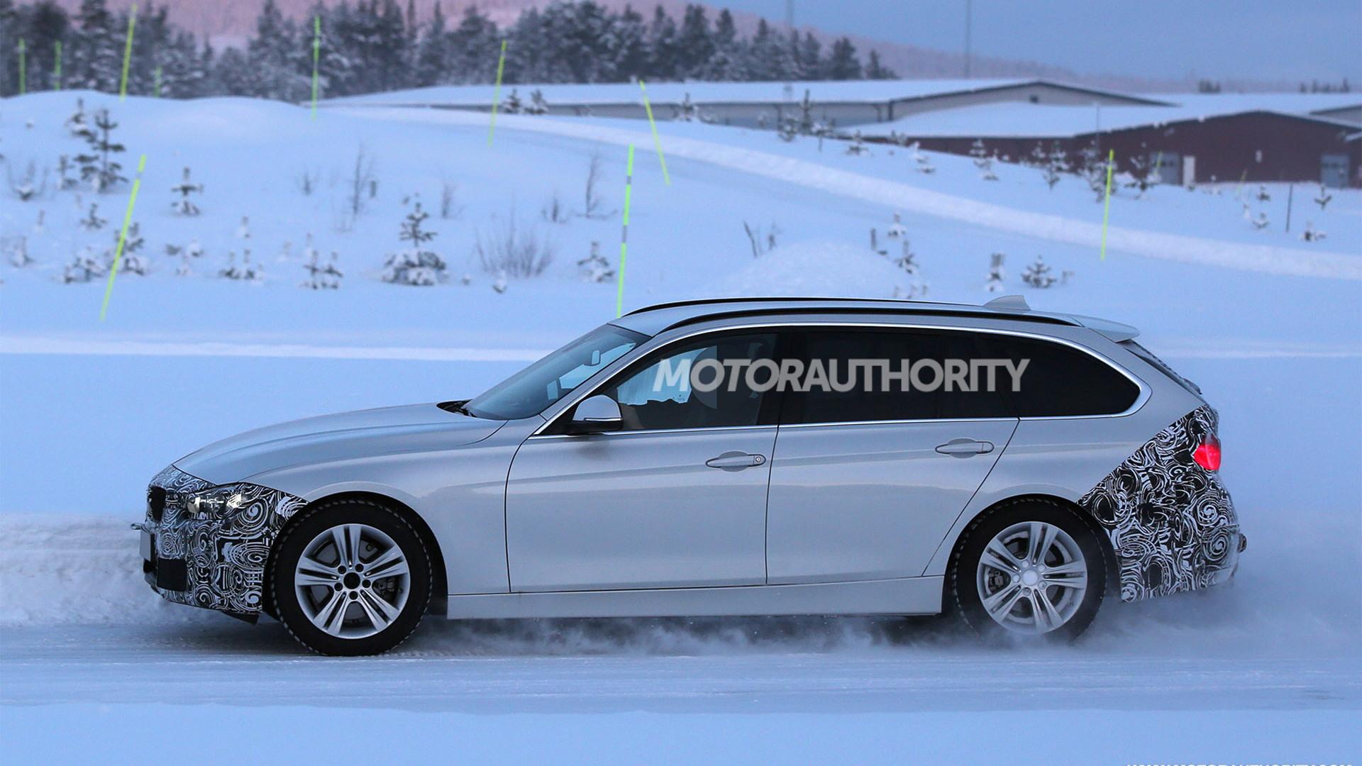 2016 BMW 3-Series Sports Wagon (Touring) facelift spy shots - Image via S. Baldauf/SB-Medien