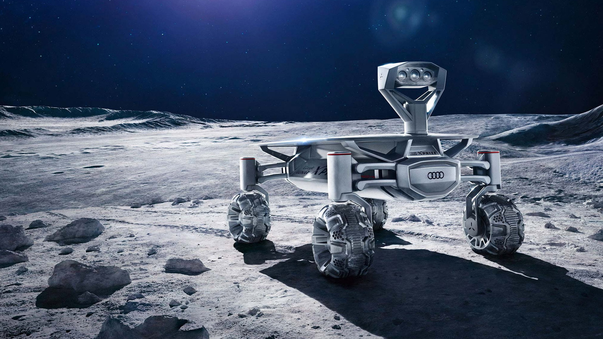 Audi Lunar Quattro developed for Google Lunar X Prize