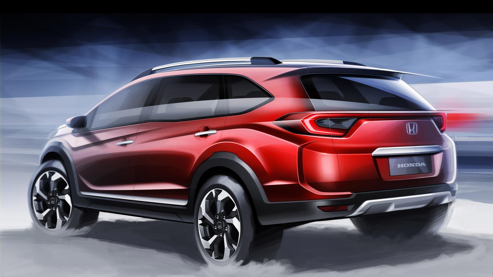 Teaser for Honda BR-V prototype debuting at 2015 Indonesian Auto Show