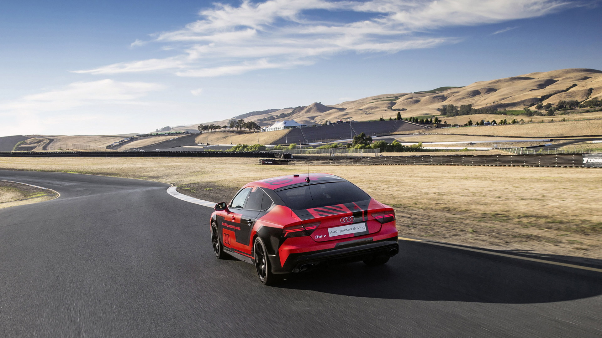 Audi RS 7 Piloted Driving concept at Sonoma Raceway, July 2015