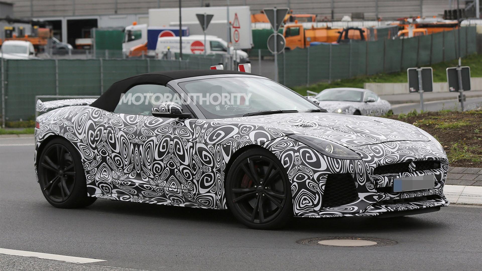 2017 Jaguar F-Type SVR Convertible spy shots - Image via S. Baldauf/SB-Medien