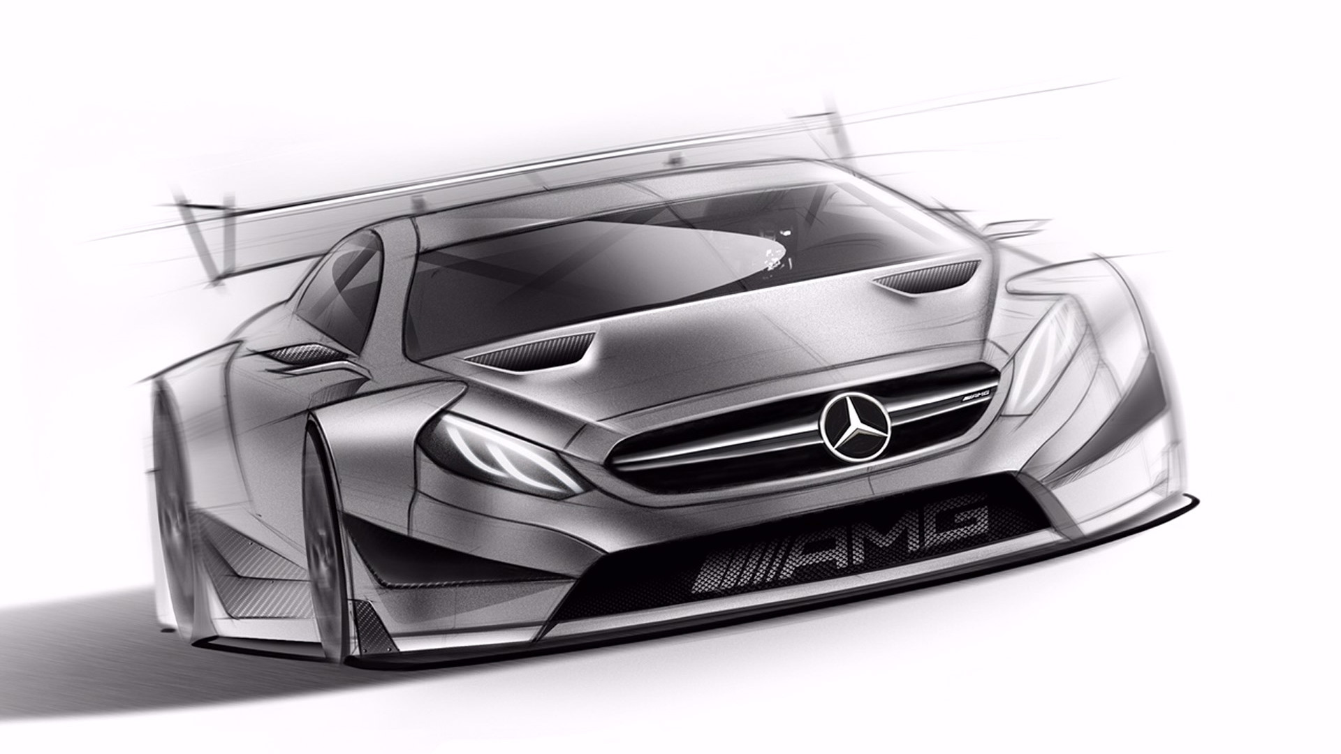 Teaser for 2016 Mercedes-AMG C63 DTM race car