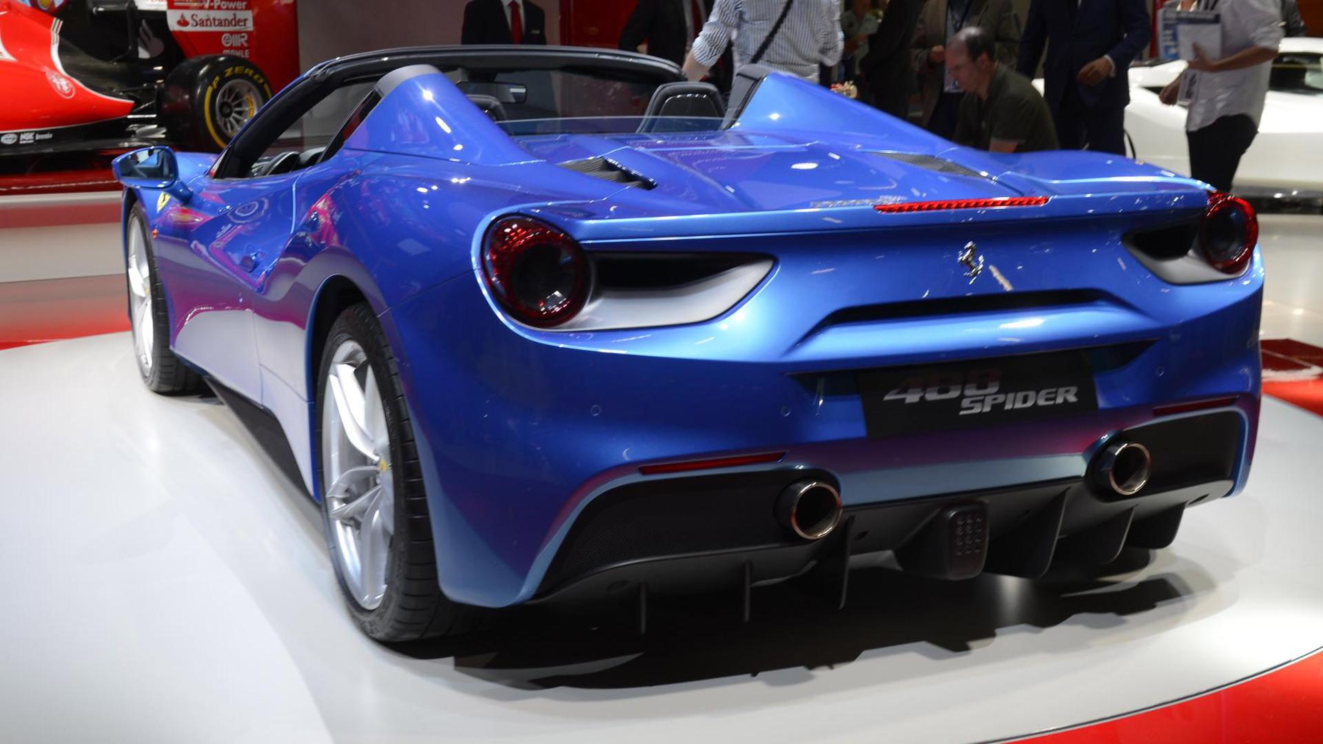 2016 Ferrari 488 Spider, 2015 Frankfurt Auto Show