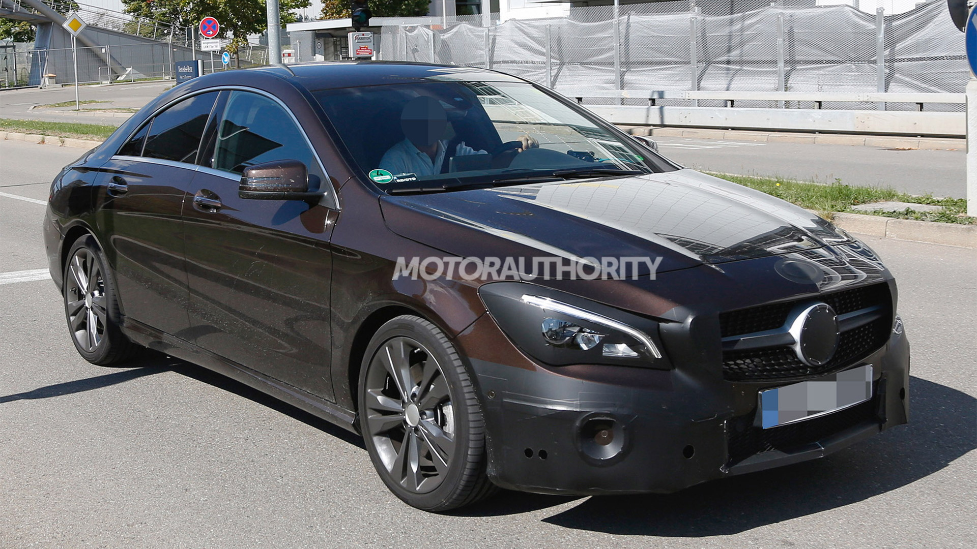2017 Mercedes-Benz CLA-Class facelift spy shots - Image via S. Baldauf/SB-Medien