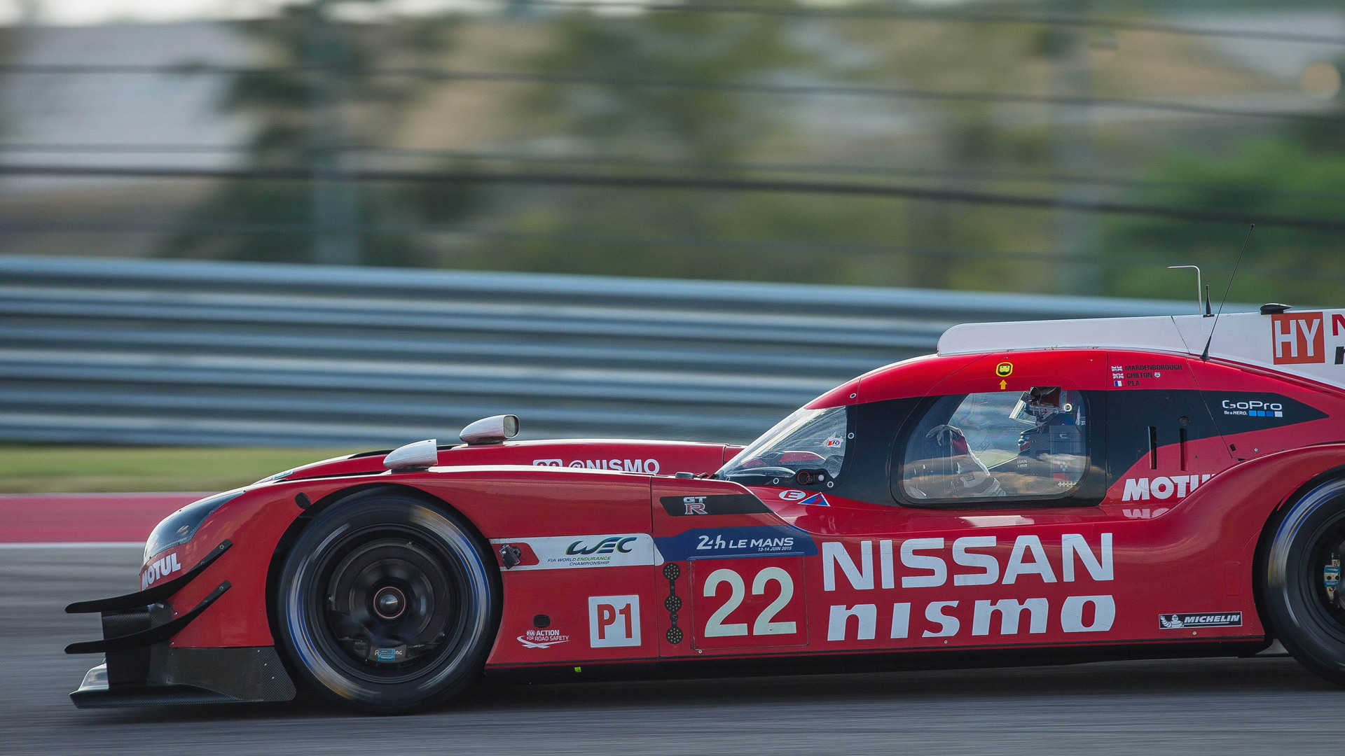 Upgraded 2015 Nissan GT-R LM NISMO LMP1 race car