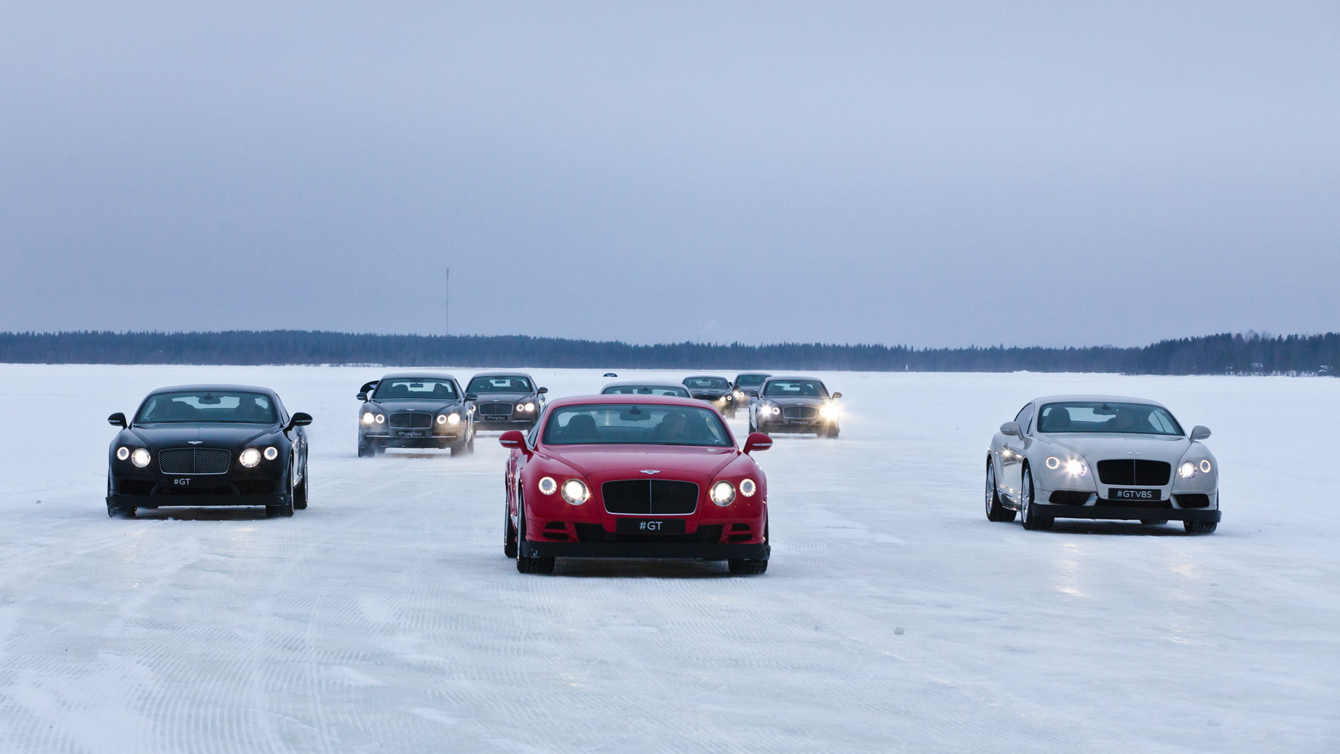 Bentley Power on Ice driving event
