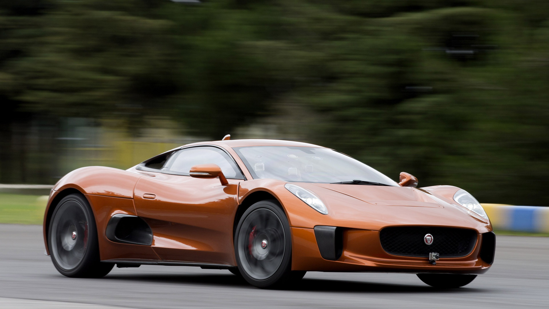 Felipe Massa drives the Jaguar C-X75 concept