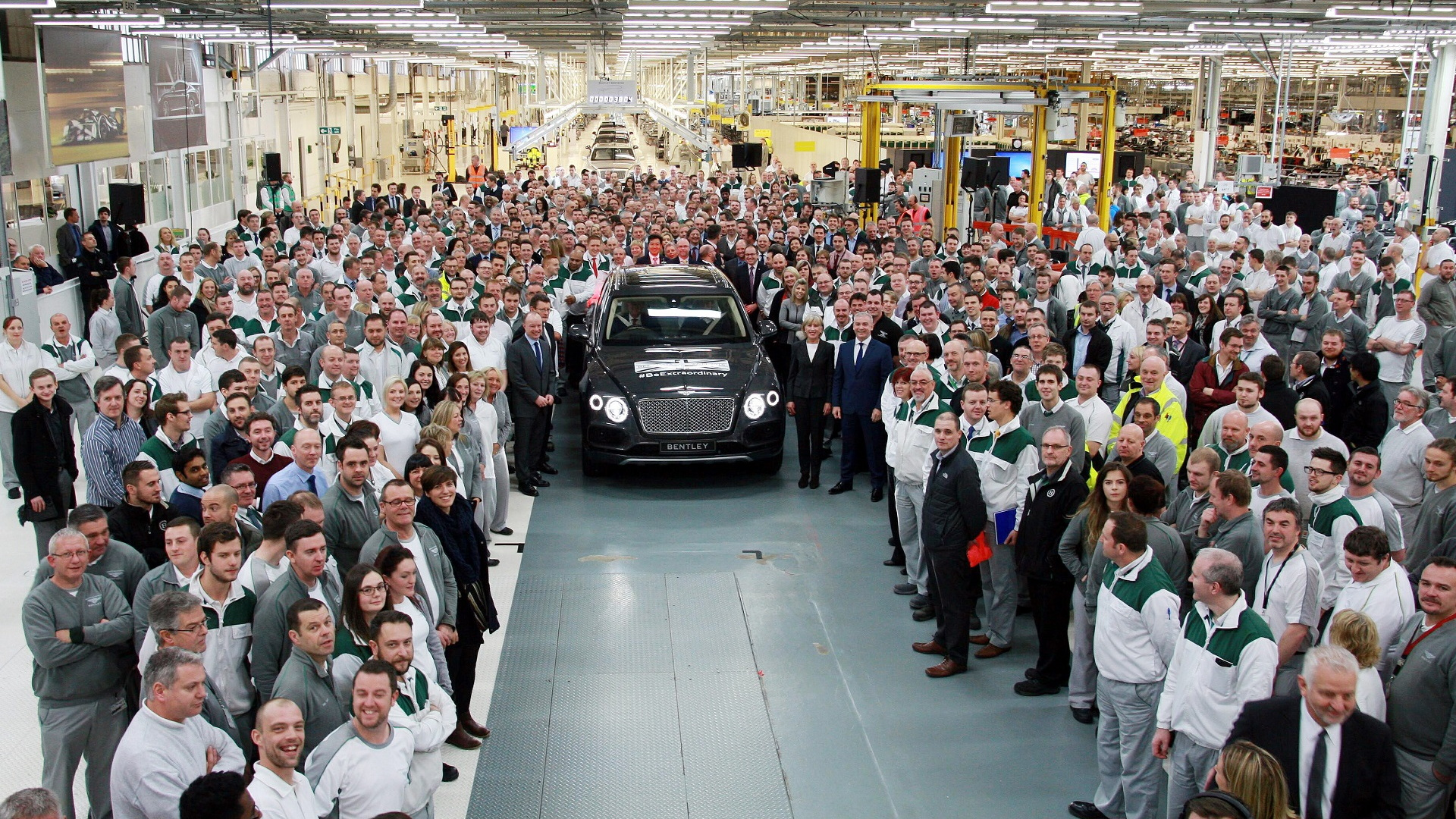 First Bentley Bentayga rolls off Crewe assembly line