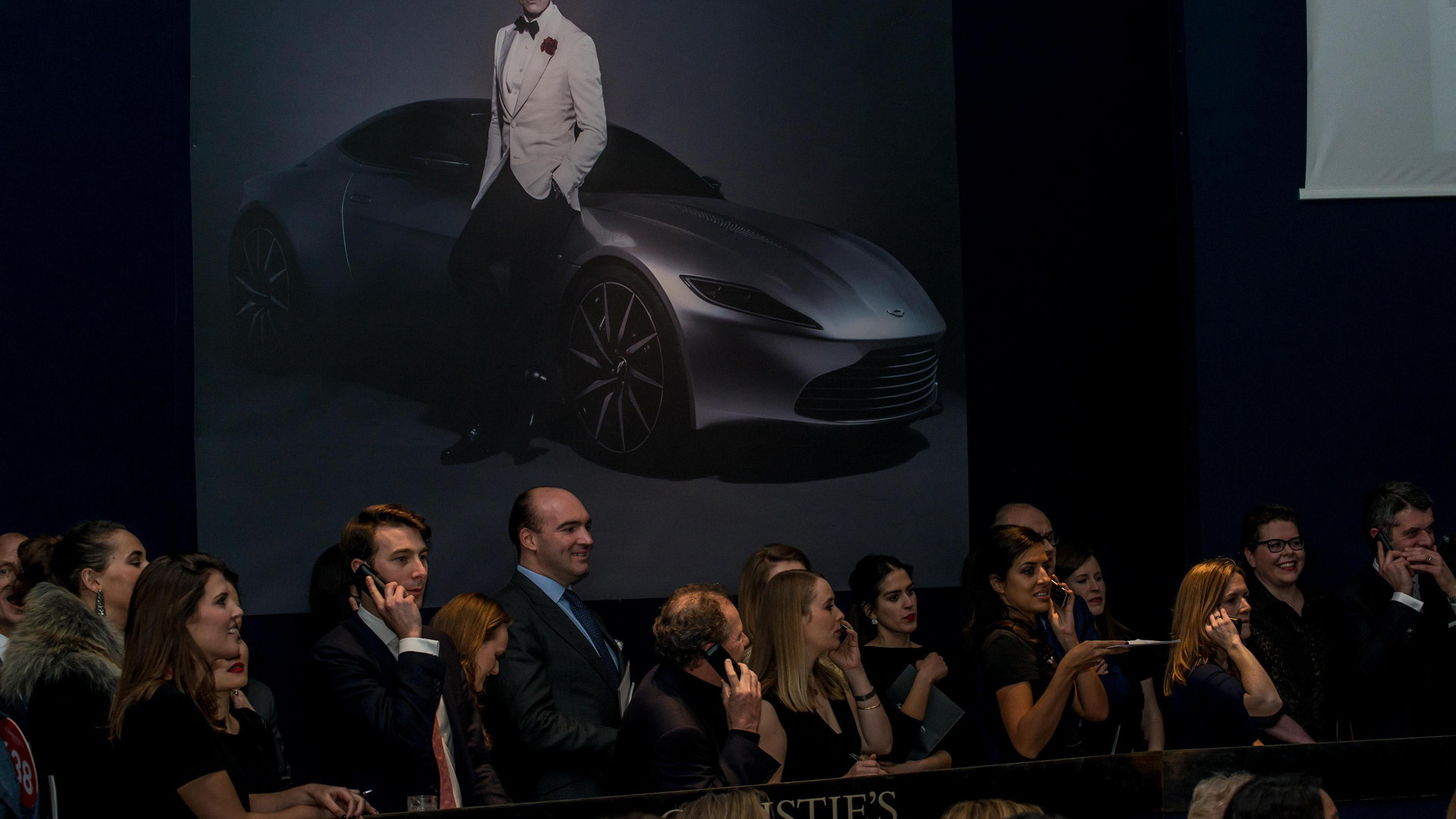 Aston Martin DB10 auction at Christie's in London, February 18, 2016