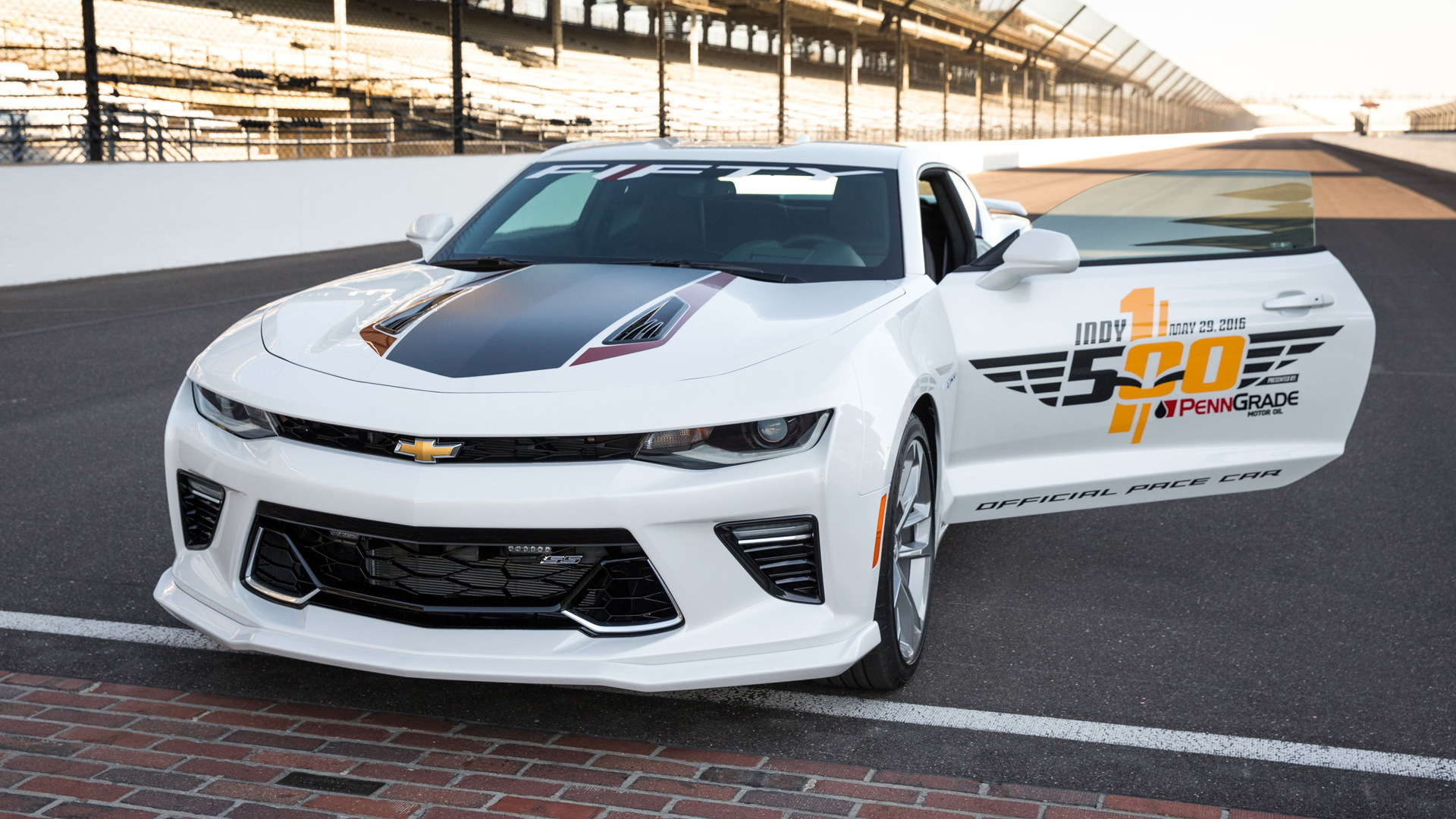 2017 Chevrolet Camaro SS 50th Anniversary Edition pace car for the 2016 Indianapolis 500