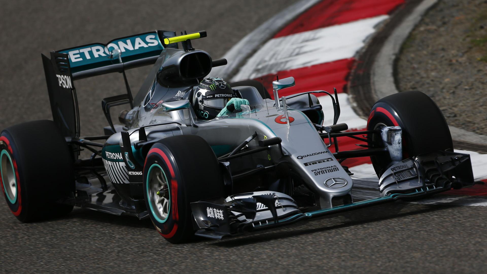 Mercedes AMG's Nico Rosberg at the 2016 Formula One Chinese Grand Prix