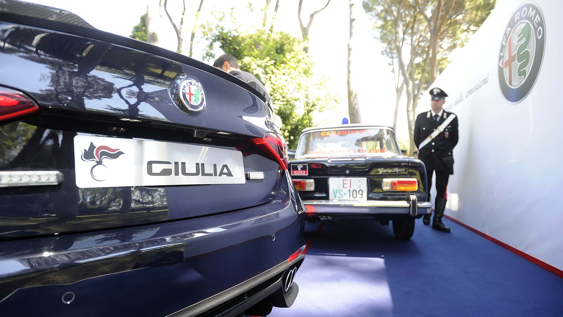 2017 Alfa Romeo Giulia Quadrifoglio delivered to Italy's Carabinieri police