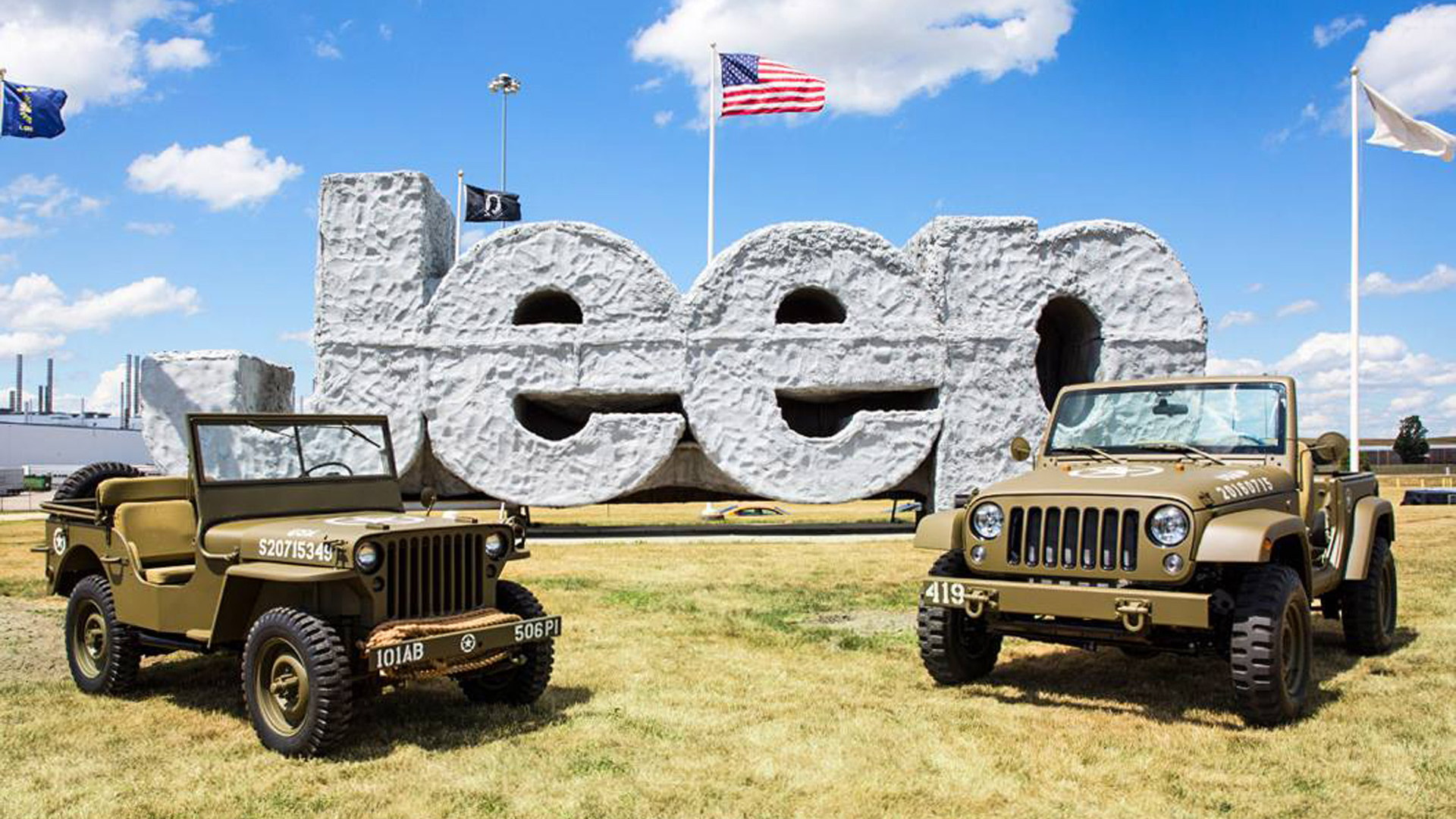 1941 Willys MB and Jeep Wrangler 75th Salute concept