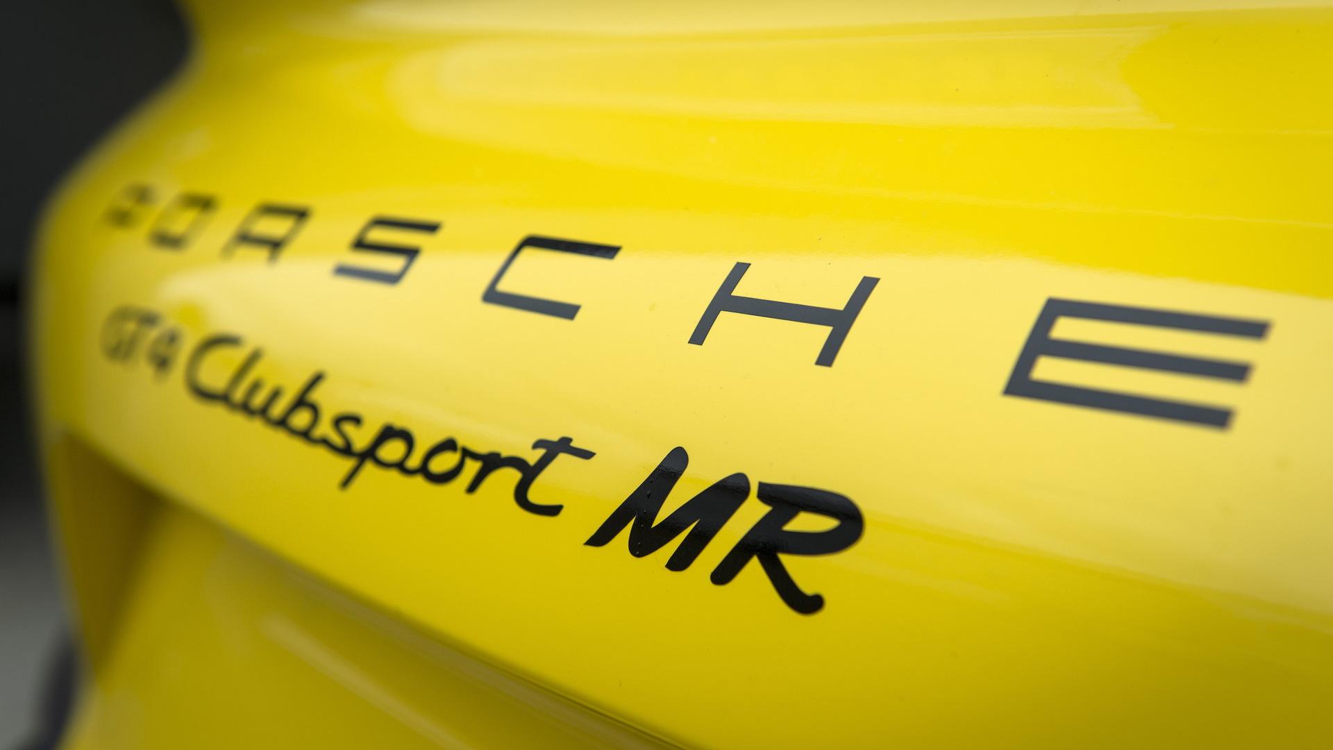 2017 Porsche Cayman GT4 Clubsport MR