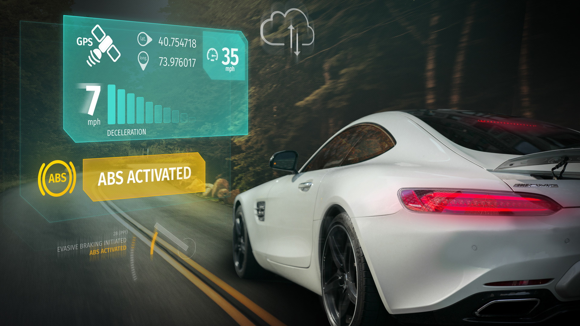 Example of HERE's next-generation real-time data services for cars