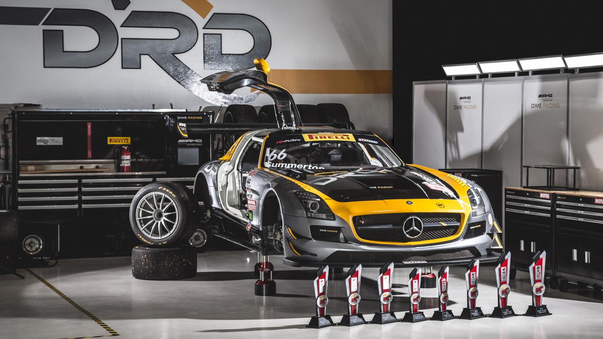 2012 Dime Racing Mercedes-Benz SLS AMG race car