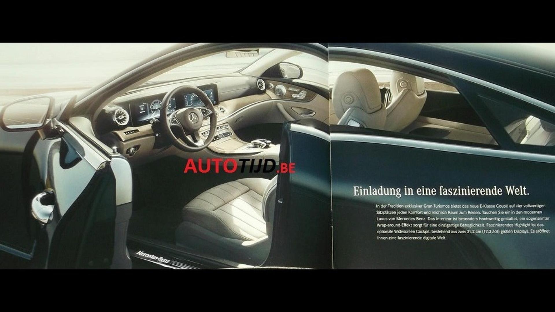 2018 Mercedes-Benz E-Class Coupe leaked - Image via AutoTijd