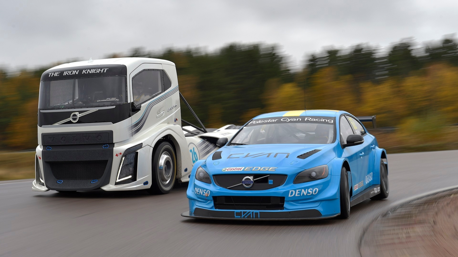 Volvo Trucks Iron Knight vs. Volvo S60 Polestar TC1