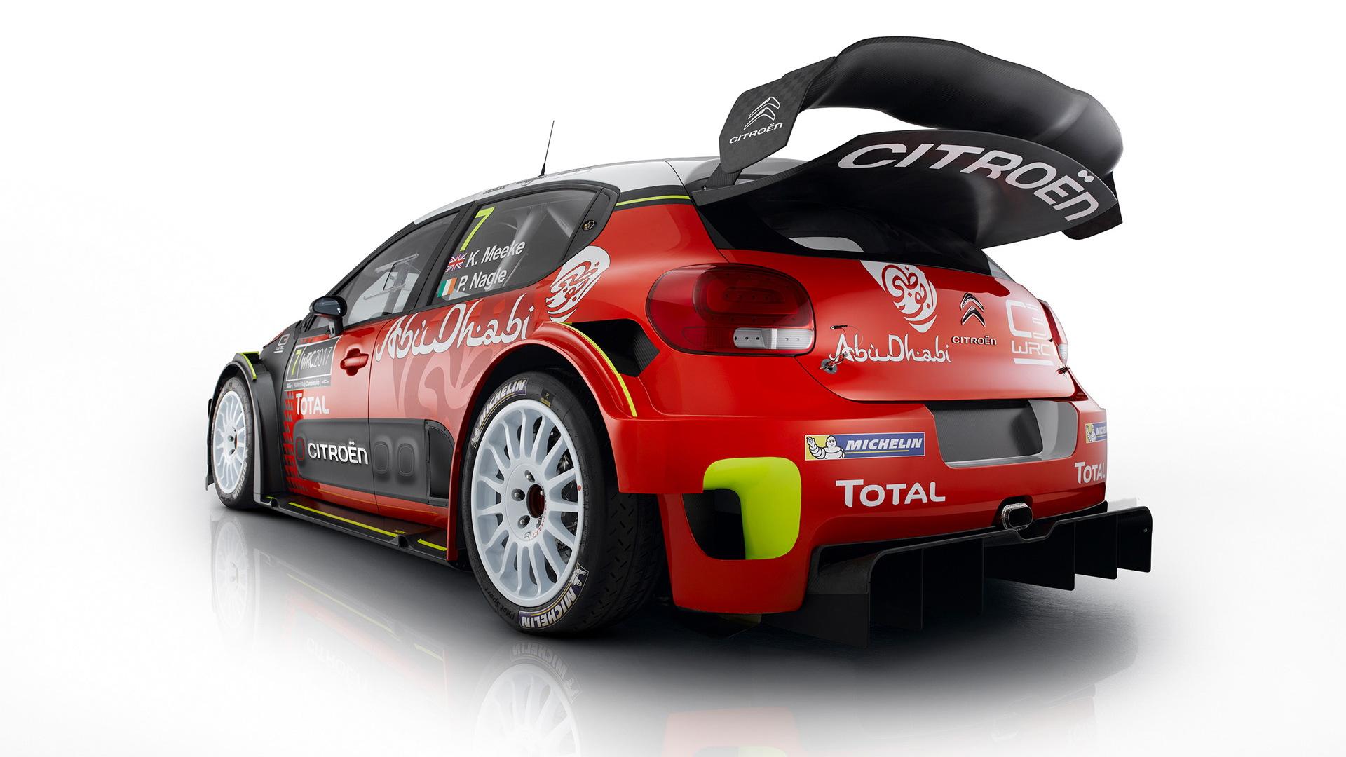 2017 Citroën C3 WRC rally car