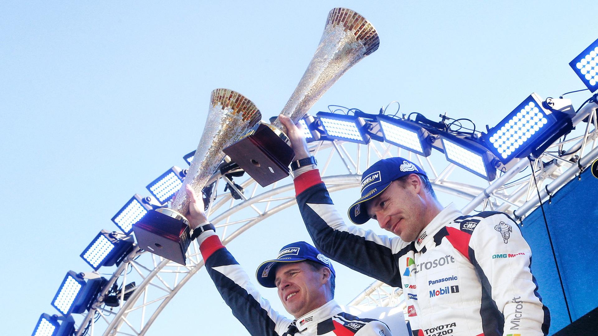 Jari-Matti Latvala and co-driver Miikka Anttila at the 2017 Rally Sweden