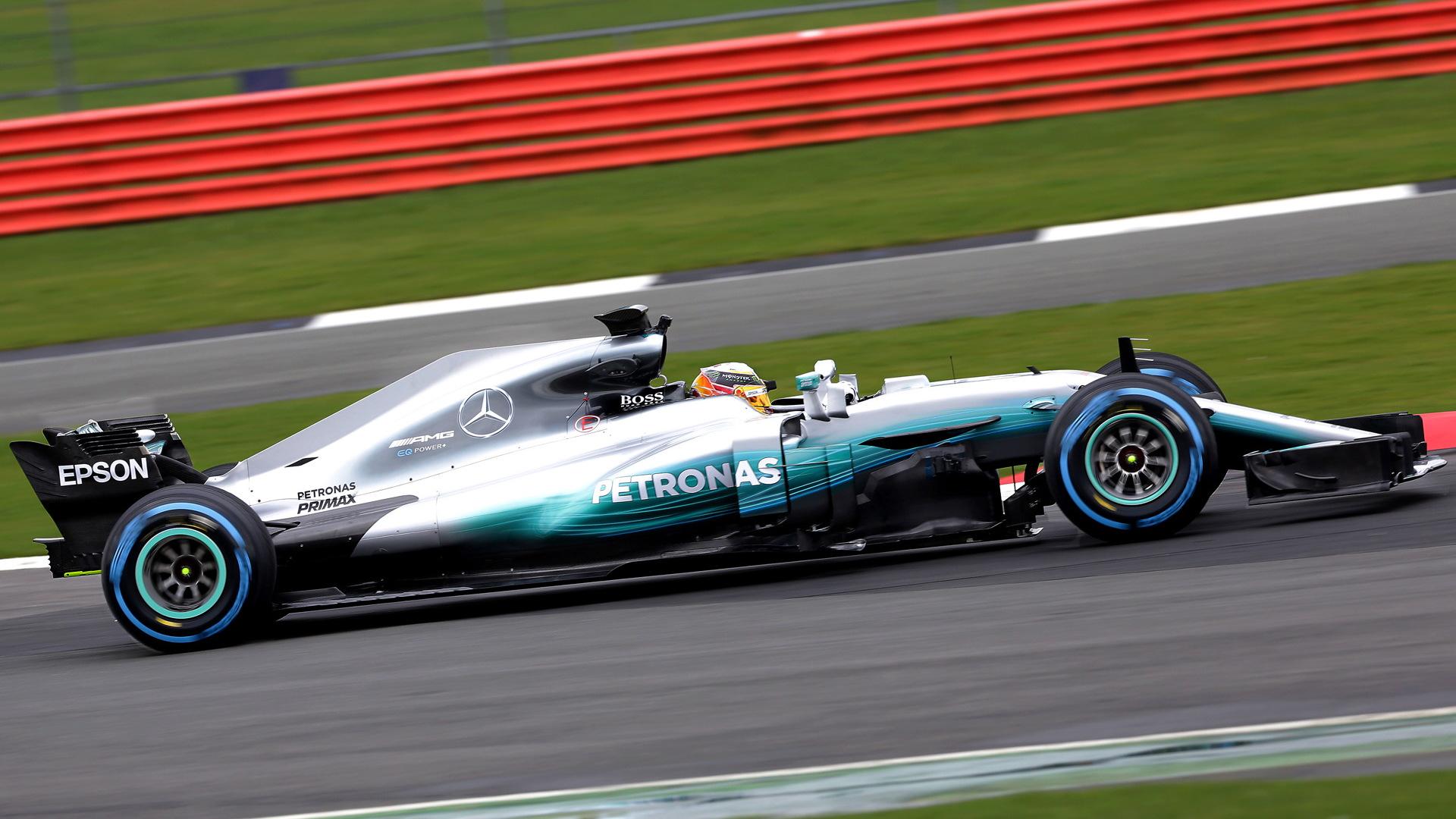 2017 Mercedes AMG W08 EQ Power+ Formula One race car