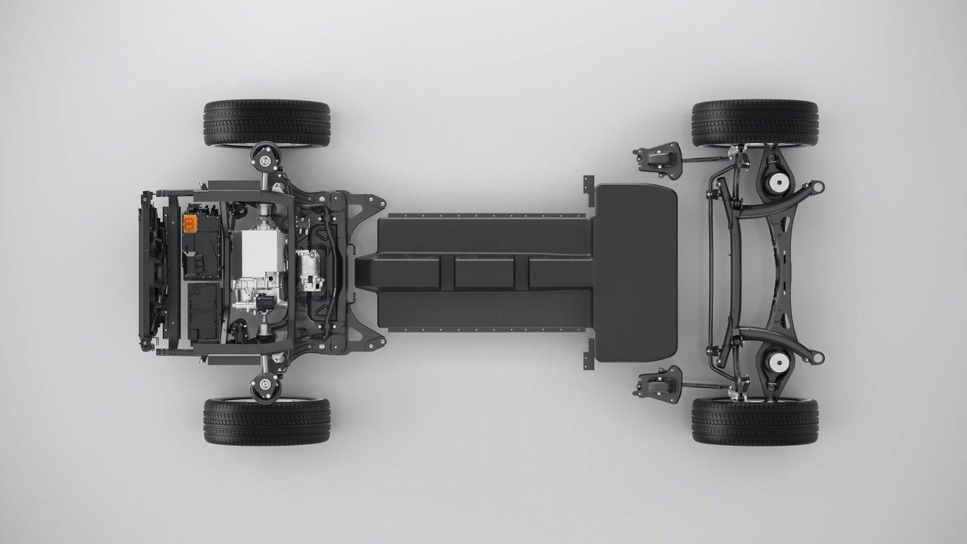 Volvo CMA modular compact car platform in electric configuration