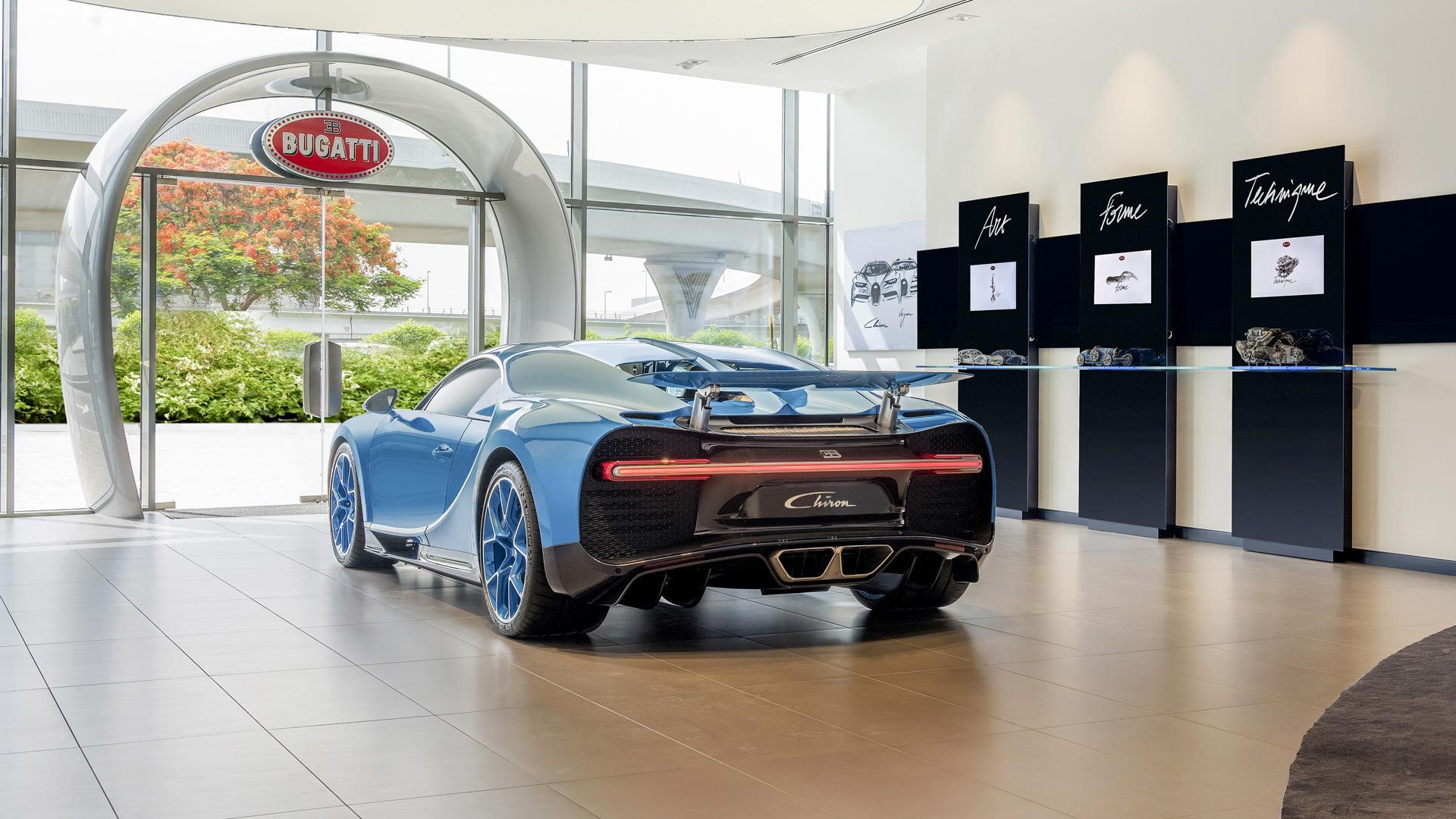 Bugatti showroom in Dubai
