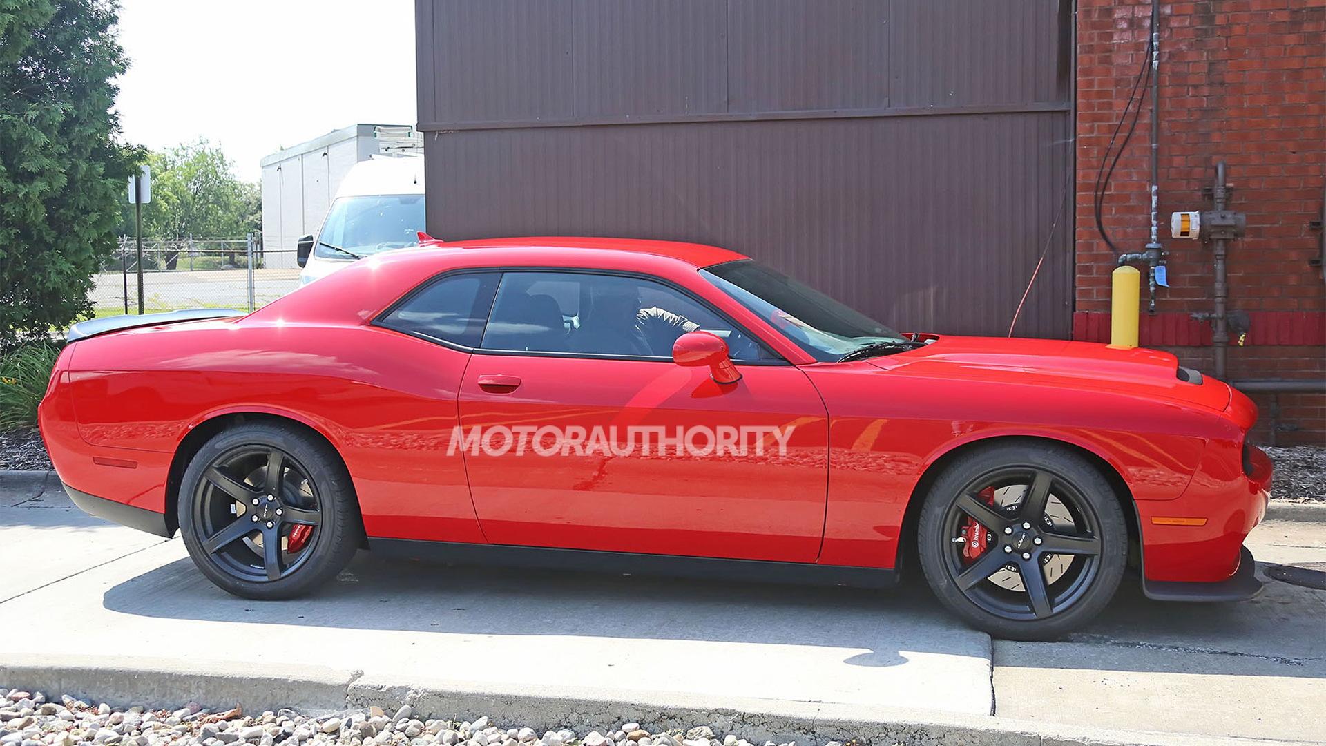 Dodge Challenger SRT Hellcat with Demon powertrain spy shots - Image via S. Baldauf/SB-Medien