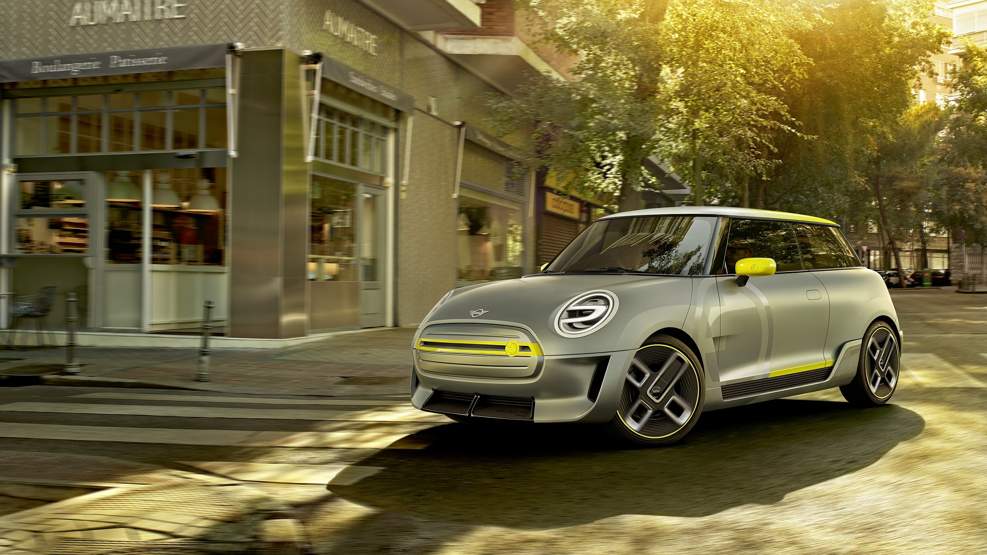 Mini Electric Concept rendering, 2017 Frankfurt auto show