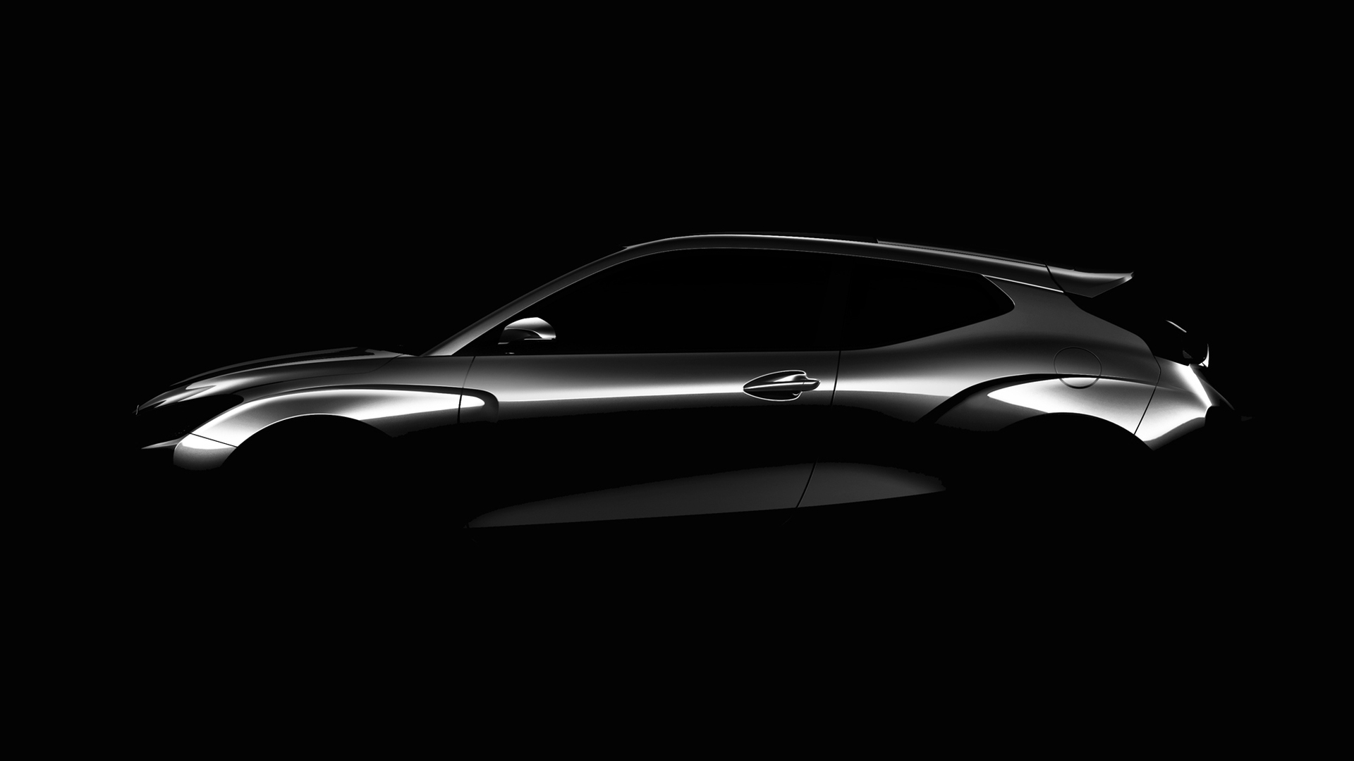 Teaser for 2019 Hyundai Veloster debuting at 2018 North American International Auto Show