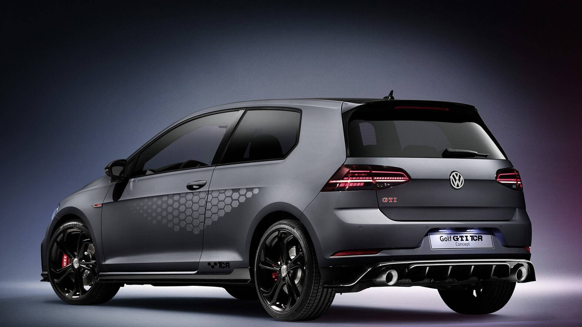 290 horsepower vw golf gti tcr road car previewed by concept. Black Bedroom Furniture Sets. Home Design Ideas