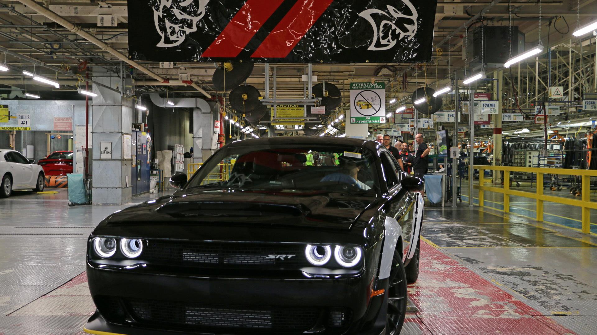 Final 2018 Dodge Challenger SRT Demon rolls off the line at Brampton, Canada plant