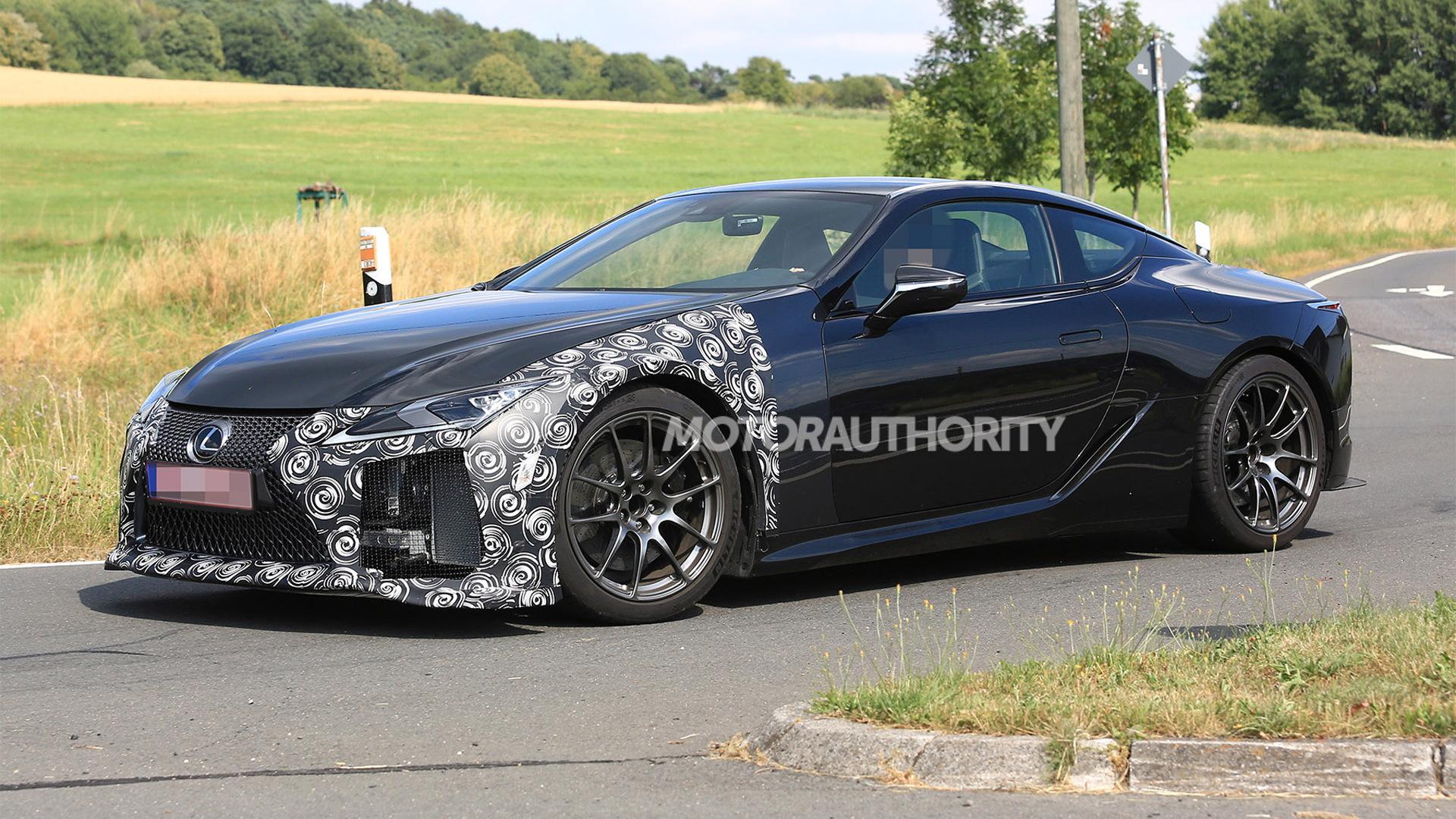 2021 Lexus LC F spy shots - Image via S. Baldauf/SB-Medien