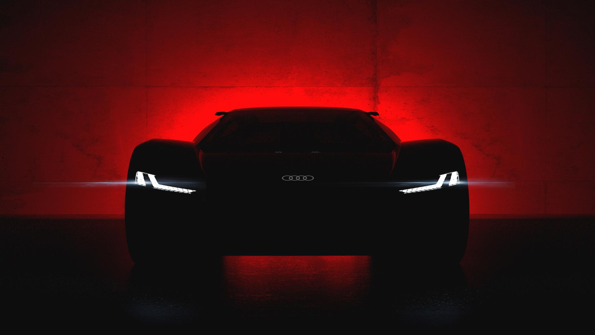 Audi PB 18 e-tron electric supercar concept teaser
