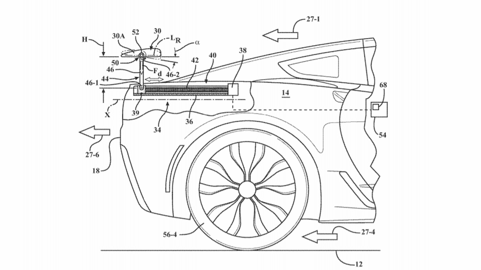 Patent for Active Spoiler filed by General Motors