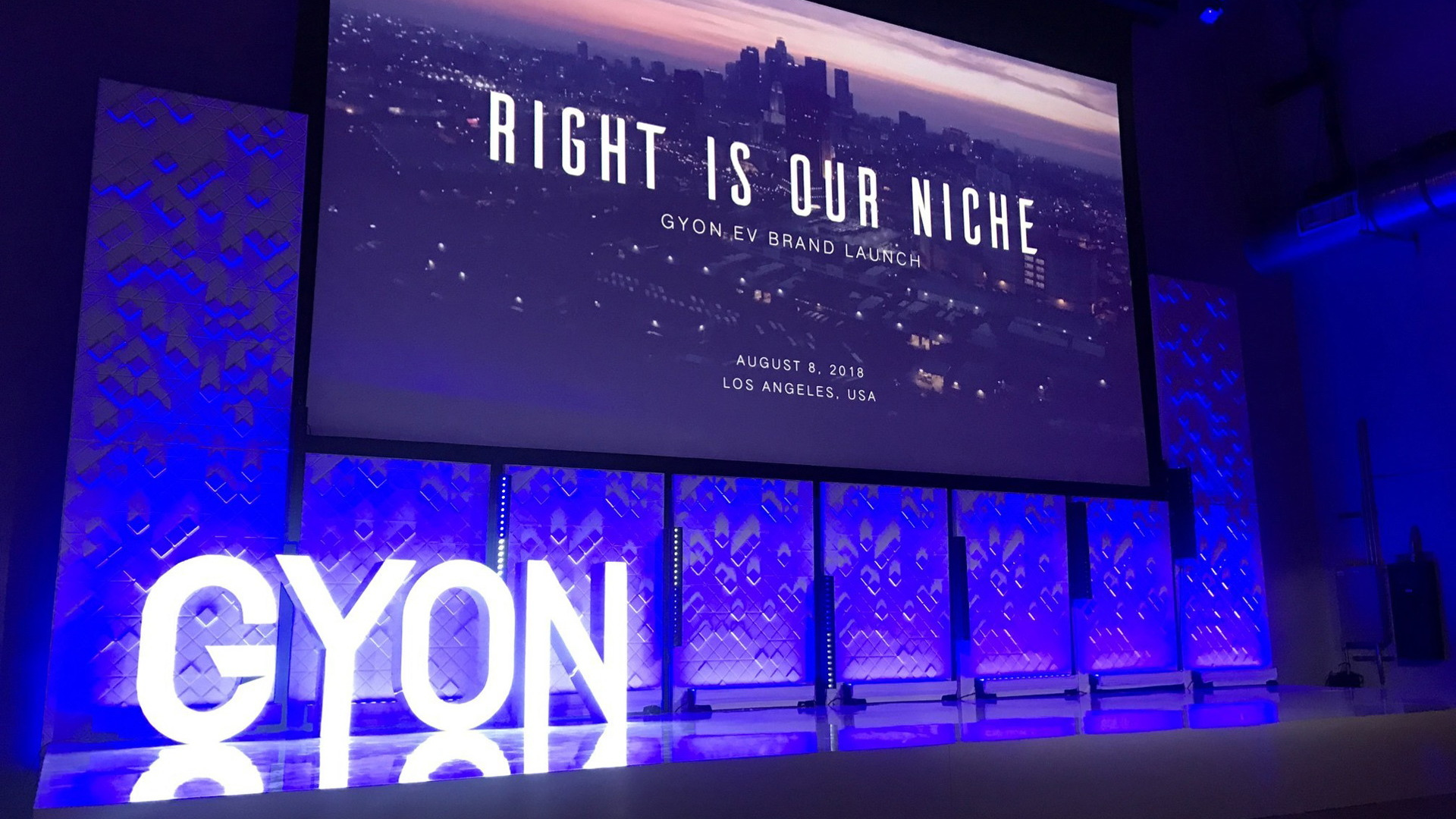 Gyon brand launch in Los Angeles, California