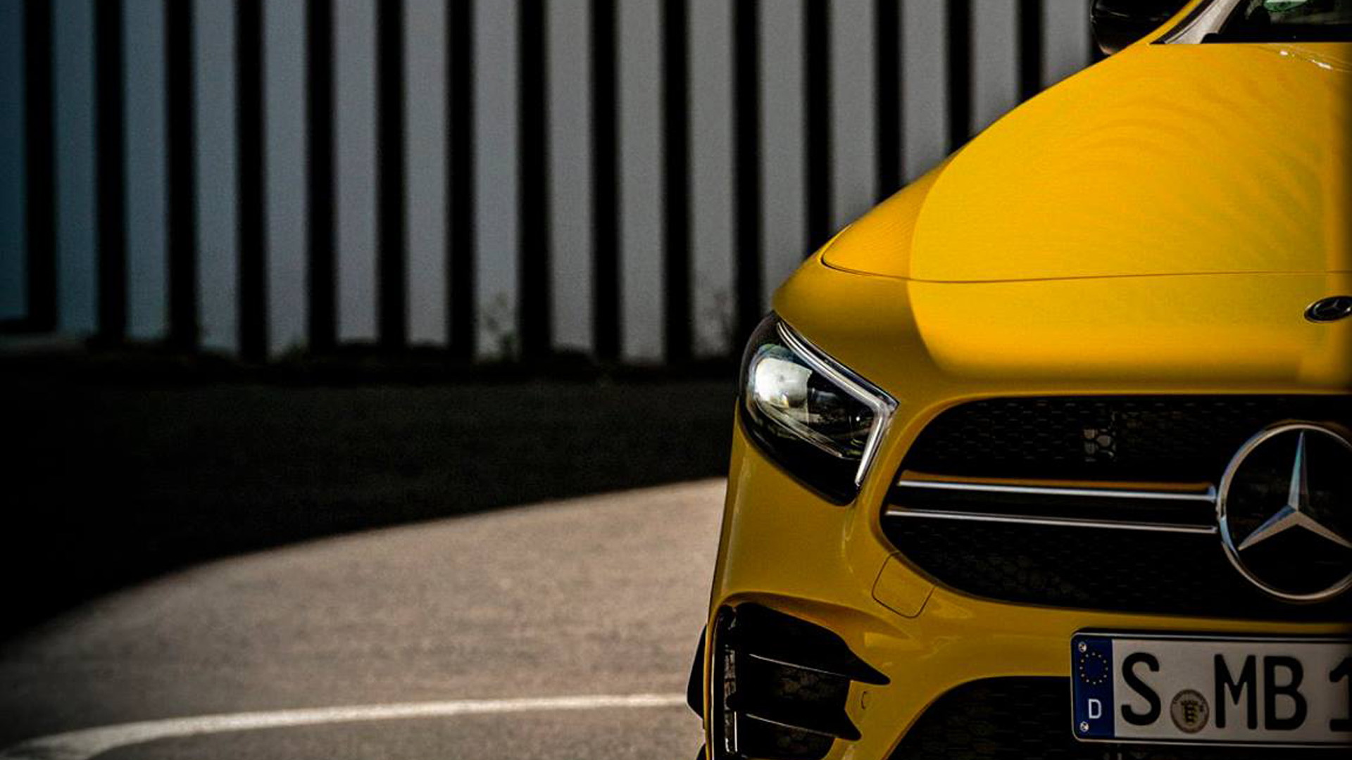 Teaser for 2019 Mercedes-AMG A35 hatchback