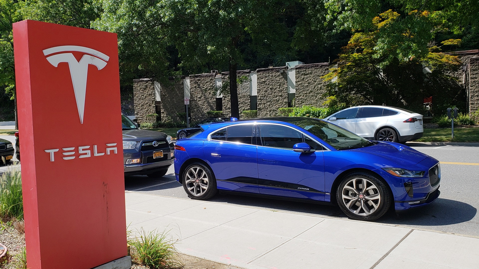 2019 Jaguar I-Pace, photographed outside Tesla Store, Mount Kisco, NY