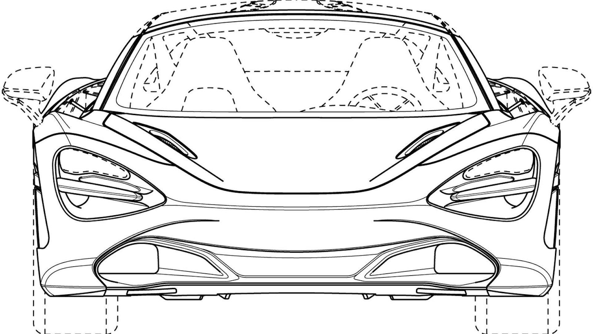McLaren 720S Spider patent drawings