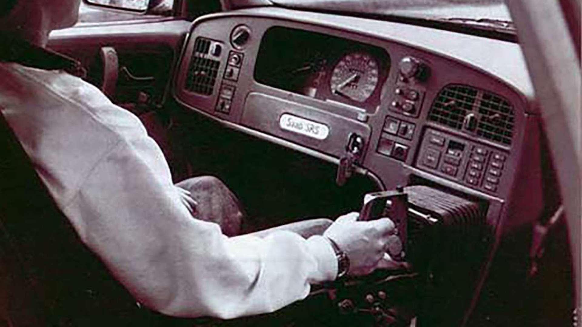 Saab 9000 with joystick driver control Photo: Goodwood