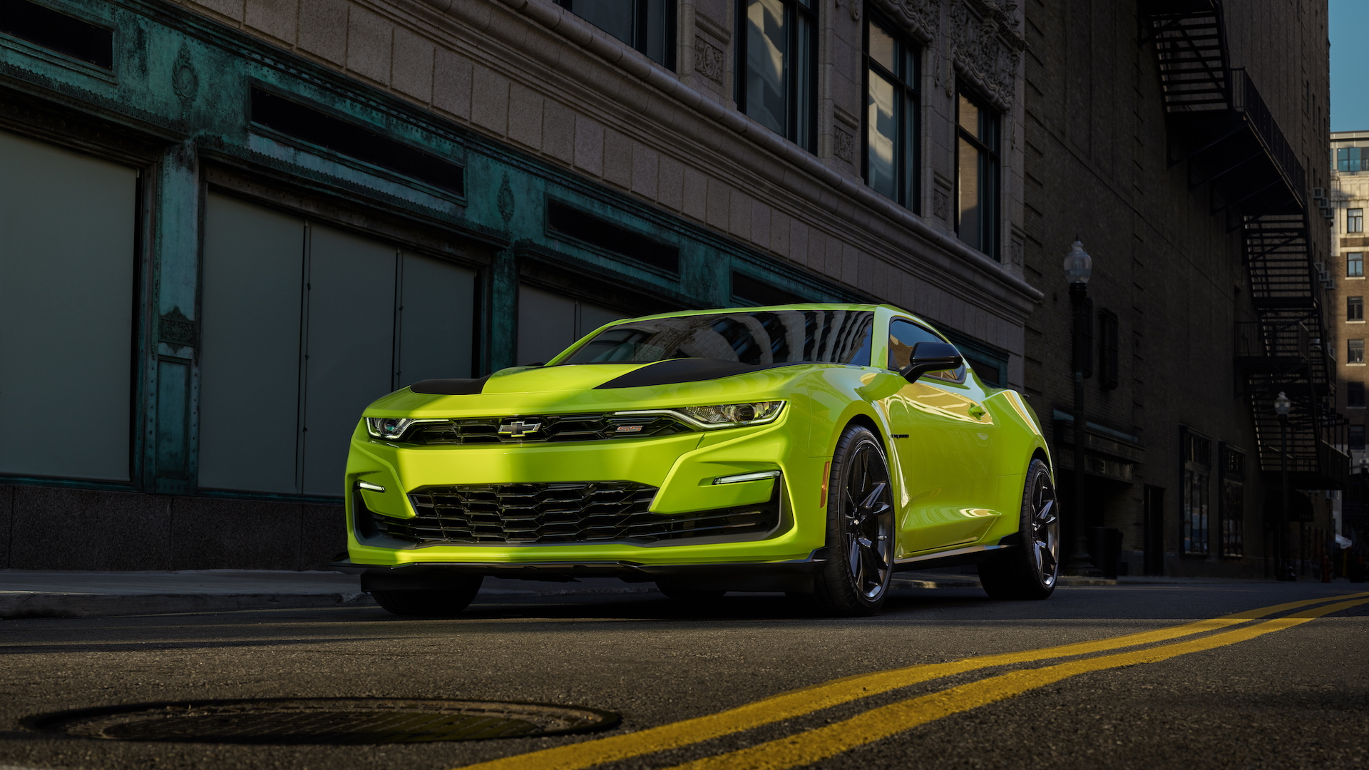 2019 Chevrolet Camaro SEMA show car in Shock color